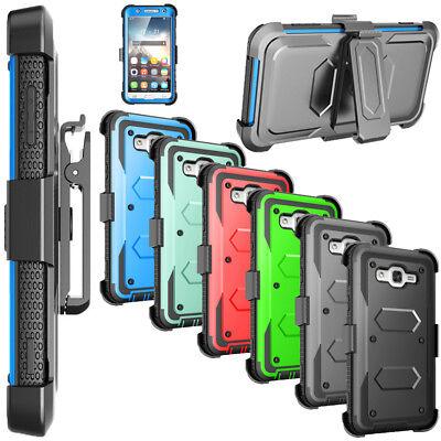 Locking Stand - For Samsung Galaxy J7 2015 Locking Belt Swivel Clip Stand Full Body Rugged Case