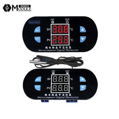 W1308 Dual Led Temperature Thermostat Alarm Digital 12v 10a Controller Sensor
