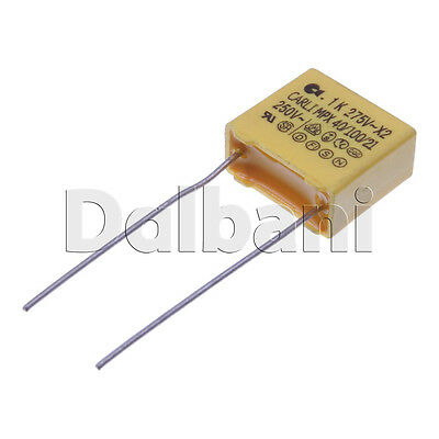 10pcs Safety Plastic Film Capacitor Mpx 275v Ac .1uf Pitch 10mm