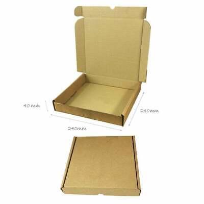 25 x Folding Lid Self Seal Cardboard Postal Boxes 240 x 240 x 40 mm