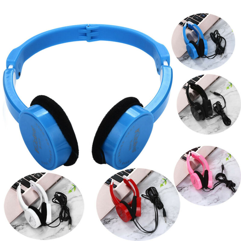 Kubite Kids Wire Headphones On Ear Foldable Stereo Headset F