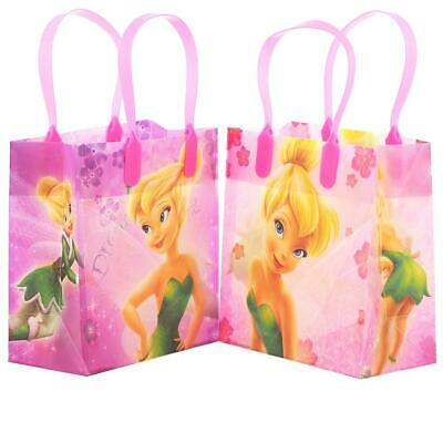 12PCS Disney TinkerBell Goodie Party Favor Gift Birthday Loot Bags Licensed NEW