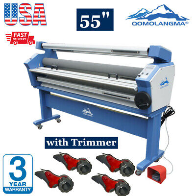 55 Full-auto Wide Format Roll Cold Laminator With Trimmer Cutter Heat Assisted