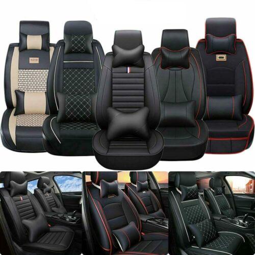 5Sitz Eleganter Autositzbezug Sitzbezüge Leder Universal für BMW VW Polo Audi