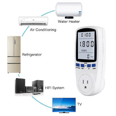 Power Meter Energy Monitor Calculator Electricity Usage Tester Usukeuau Plug