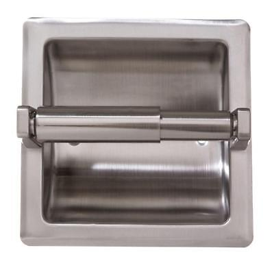 ARISTA Recessed Toilet Paper Holder with Mounting Plate in Satin Nickel