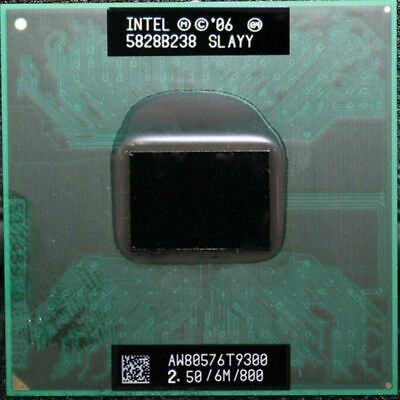 Intel Core 2 Duo Mobile T9300 SLAQG SLAYY 2.5 GHZ 6MB 800MHZ CPU Processor Core 2 Duo T9300 Processor