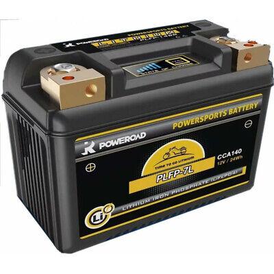 Batería de litio para moto POWEROAD PLFP-7L 12V 24Wh 140A