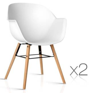 Set of 2 Eames Replica DAW Dining Chair