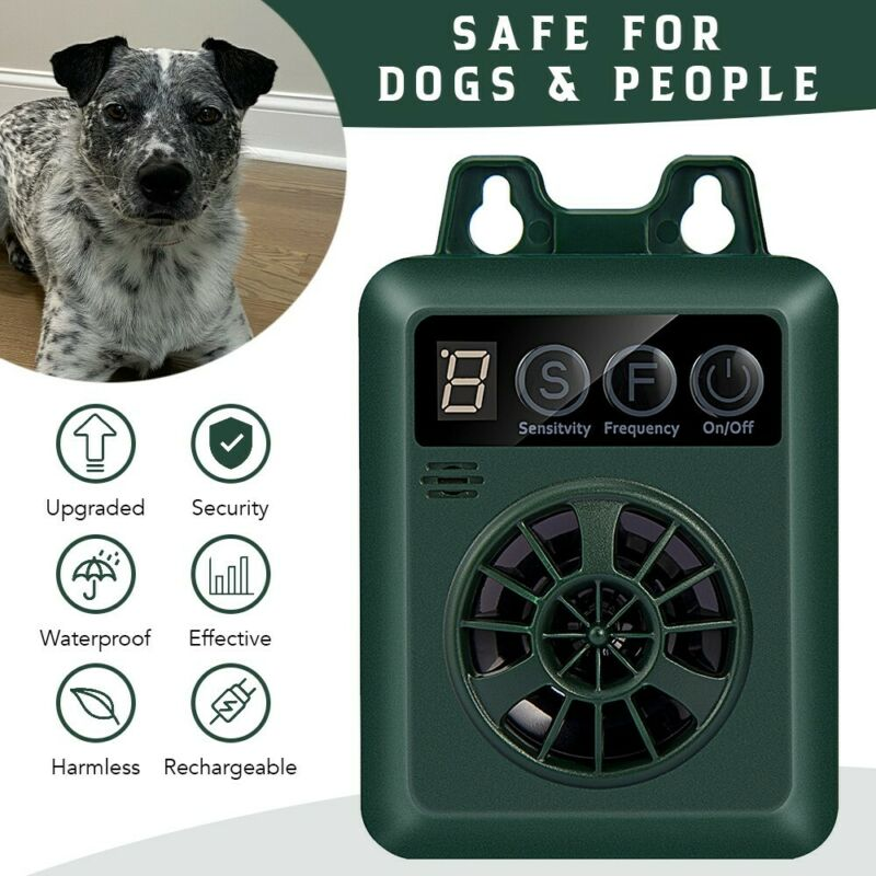 KINZ Anti-Dog Barking Device, Ultrasonic Dog Bark Deterrent, Outdoor 50