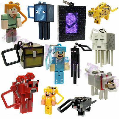 Minecraft Series 2 Hangers Keyring Keychain Toy 10 PCS Figures Gifts Random