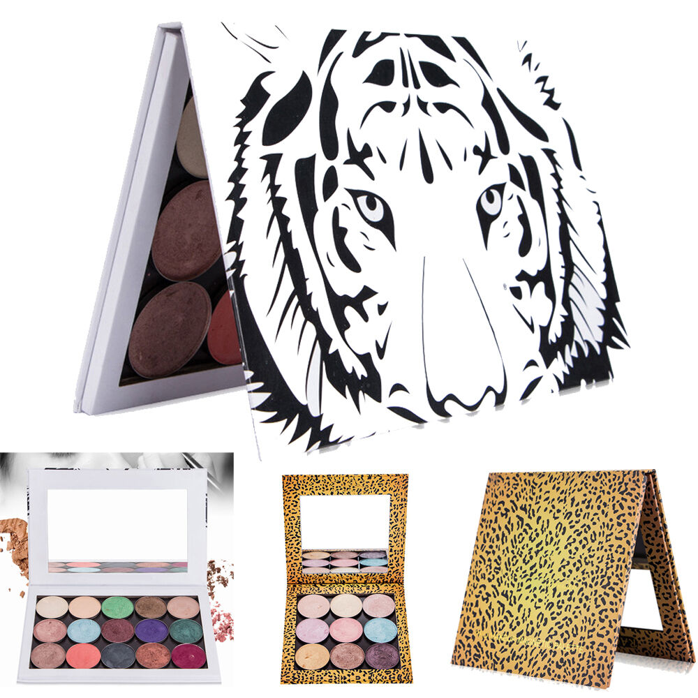 Eye Shadow Empty Box Magnetic Palette Makeup Palette Pad Tiger Head Large xz