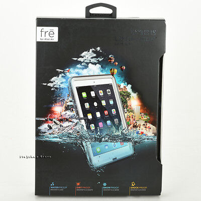LifeProof FRE iPad Air 1st Generation Waterproof Hard Shell Case WHITE GRAY NEW