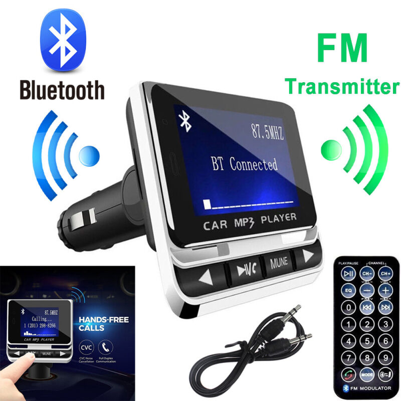Bluetooth LCD Car MP3 Player FM Transmitter + Remote SD USB Charger Kit Quality