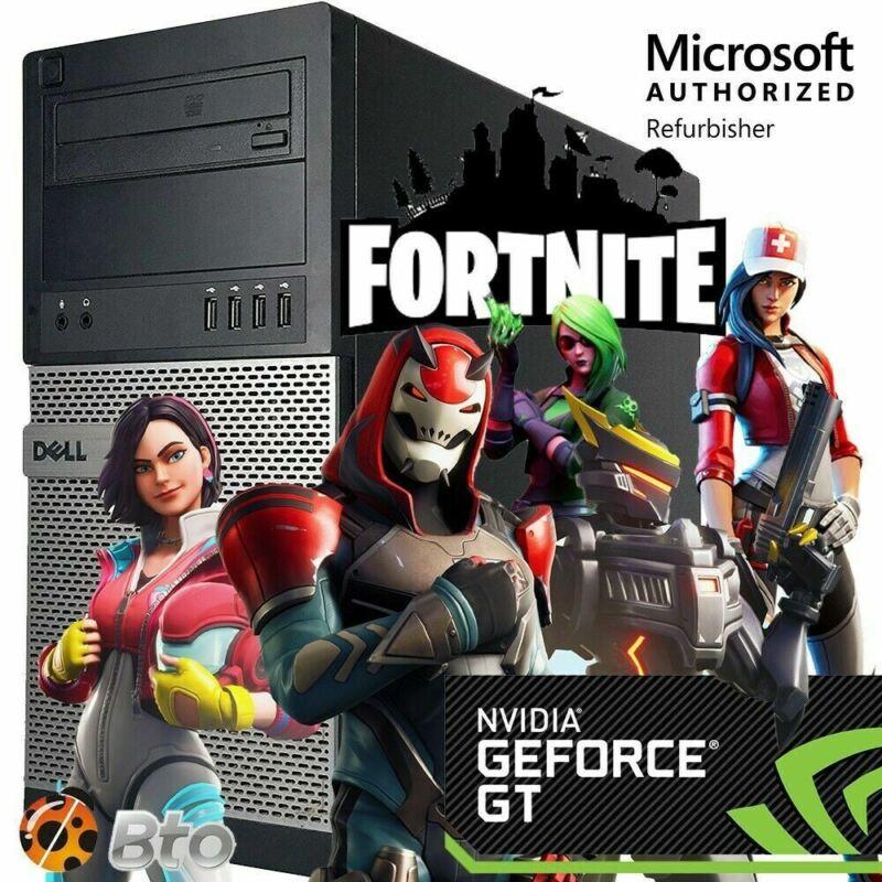 Fast Dell Gaming Computer Quad Core I5 8gb 2tb Amd Rx 550 Ddr5 Win 10 Hdmi Wi-fi