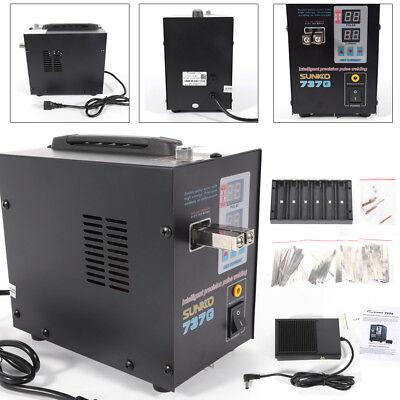 110v Handheld Sunkko 737g Battery Spot Welder With Pulse Current Display 800a Us