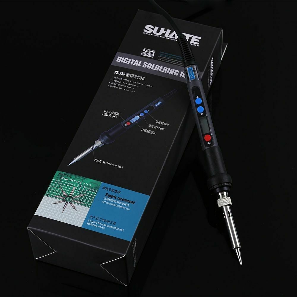 Digital LCD Electric Soldering Iron 90W Soldeerbout Adjustab