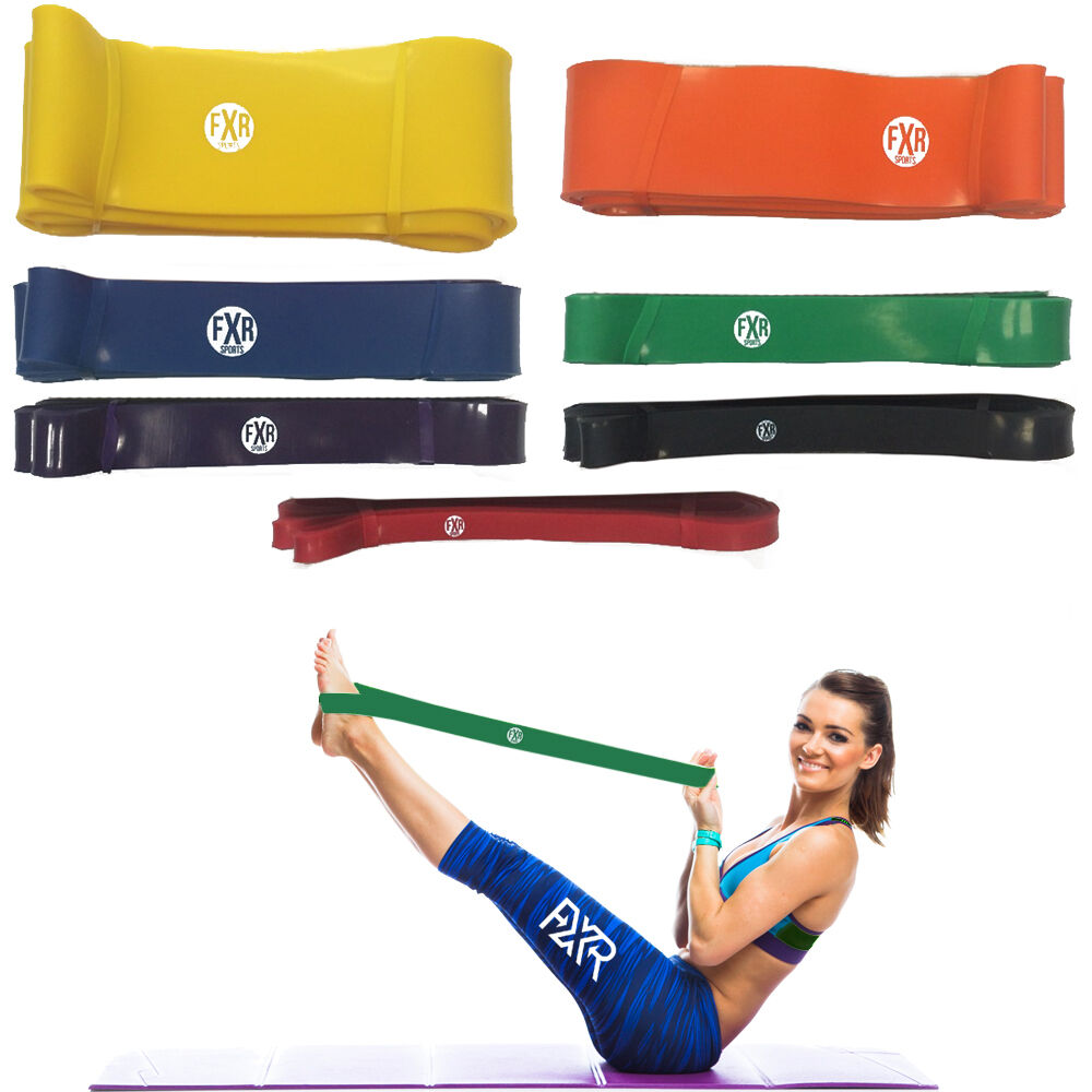 Resistance Loop Bands Exercise Cross fit Strength Weight Training Fitness Gym UK
