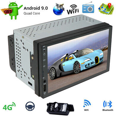 "Android 9.0 Double 2DIN 7"" Car Radio Stereo GPS Navigation 4G WIFI DAB Camera"