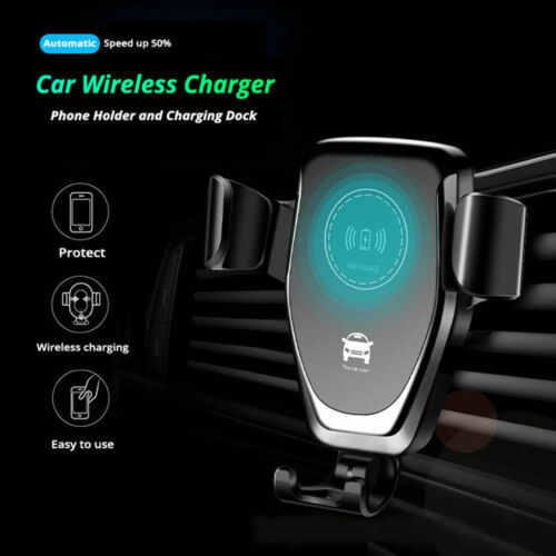 Qi Wireless Car Charger Holder For iPhone X XR XS Max Samsung Note 9 S8 S9 Plus