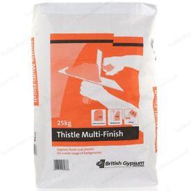 British Gypsum Thistle Multi Finish Plaster 25kg 5 Bags