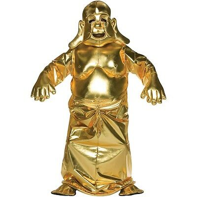 Golden Buddah Budda Buddhist God Tiki Idol Religious Halloween Costume RARE! HTF](Tiki God Costume)