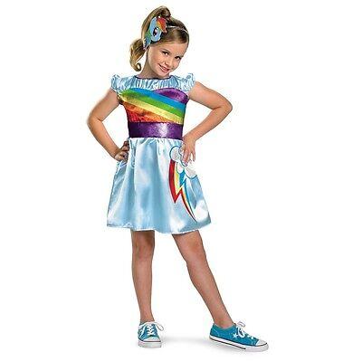 Girls My Little Pony Costume Rainbow Dash Fancy Dress Toddler Kids Child 3T-4T - Mlp Rainbow Dash Dress