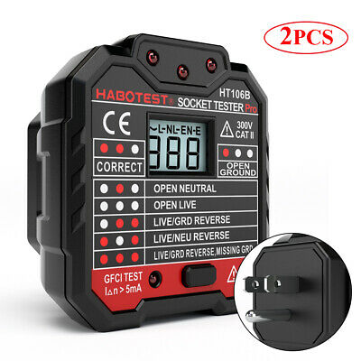 Habotest Electric Socket Tester Gfci Leakage Test Circuit Polarity Detector W0c5