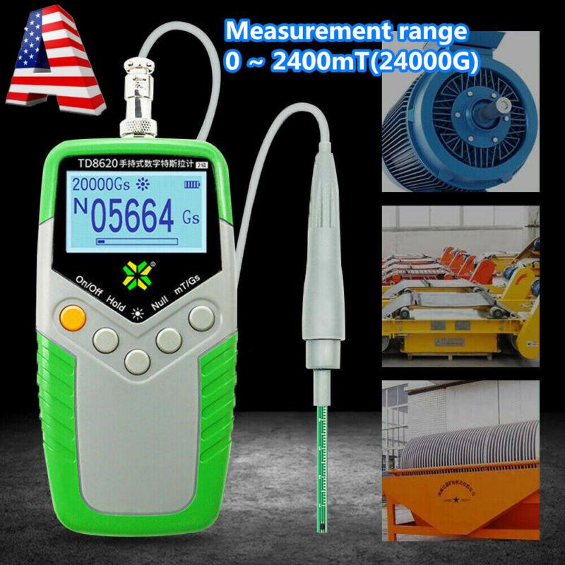 Digital Gauss Meter Surface Magnetic Field Tester mT/Gs Magnetic Flux Meter New