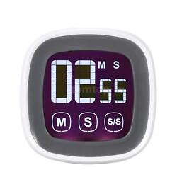 Digital Cooking Kitchen Countdown Timer Alarm Clock With LCD Touch Screen O7ND