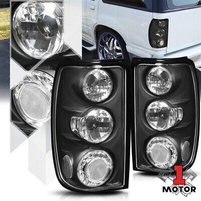 Black Housing Clear Lens *EURO ALTEZZA* Tail Light Brake Lamp for 95-97 Explorer