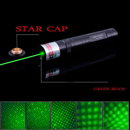 Military 20Miles 532nm 1mw Green Laser Pointer Pen Visible Beam Light Star Cap