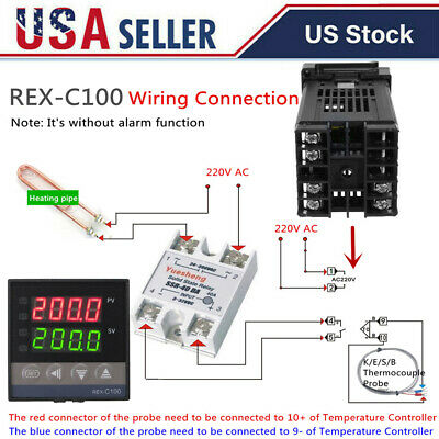Dual Digital Pid Rex-c100 Temperature Controller Max.40a Ssr K Thermocouple B3l6