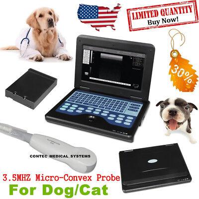 Fedex Contec Portable Veterinary Machine Laptop Ultrasound Scanner Probedogcat