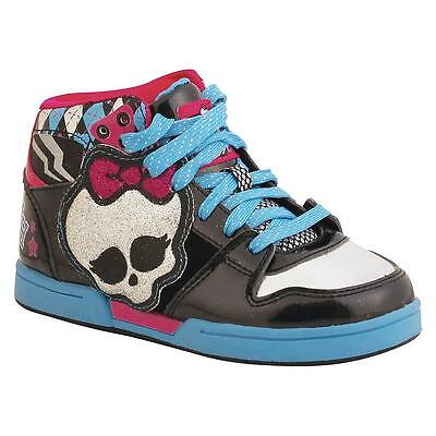 New Girls Monster High Skully Athletic HiTop Shoes Style 552 Black/Multi 186A sr](Monster High New Girls)