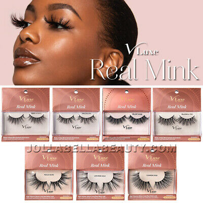 V-Luxe i Envy Real Mink Eyelash Extension Volume False Strip Lash Extra Long 1PC