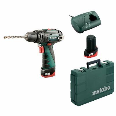 Metabo 10.8V batería Taladro Percutor PowerMaxx SB BASIC 2x 2,0Ah batería