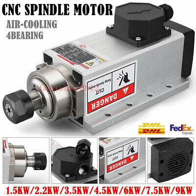 Flange Spindle Motor Air-cooled 4bearing 1.52.23.54.567.5kw Cnc Woodworking