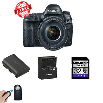 Canon EOS 5D Mark IV DSLR Camera w/ 24-105mm f/4L II Lens + Wireless Remote - Wireless Viewfinder