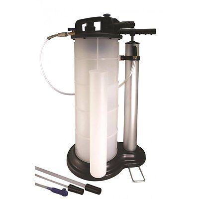 9 Litre Syphon Vacuum Fluid Transfer Extractor Motor Oil Pump Pneumatic Air NEW
