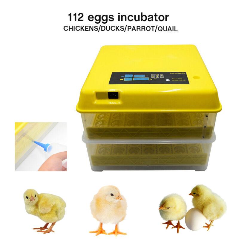 Digital Chicken 112 Eggs Incubator Hatcher Temperature Control Automatic Turning