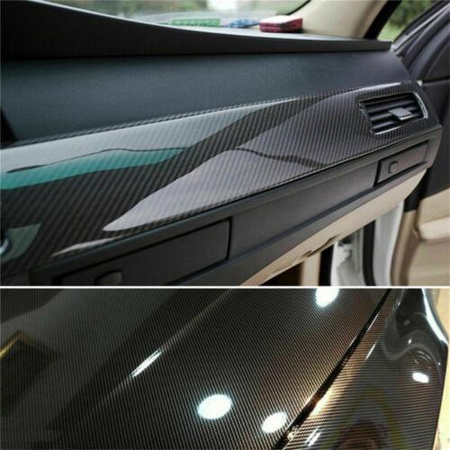 Car Parts - Car Sticker 7D Carbon Fiber Vinyl Foil Film Decal Black Waterproof Auto Parts