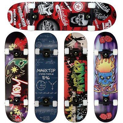 FunTomia® Skateboard 9 Lagen Ahornholz ABEC-11 Kugellager 92A Rollen 4 Farben ()
