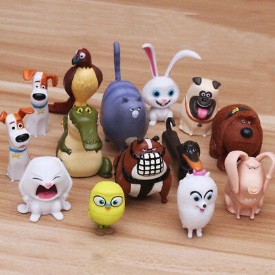 The Secret Life Of Pets Blind Bag Movie Toy 14 PCS Figures Cake Topper Doll Toys - Blind Bag Toys