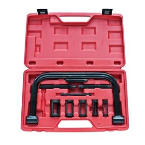 New 10pc Valve Spring Compressor Tool Kit Car Motorcycle Petrol Spanner Engine
