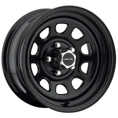 15 Inch Black Wheels - 4-Vision 84 D Window 15x7 5x4.5