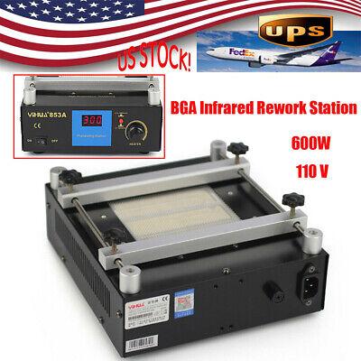 853a Bga Infrared Rework Hot Plate Preheating Oven Welder Station 600w Usa