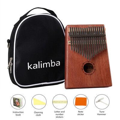New Best DKL-17 17 Key Kalimba Thumb Piano Solid Mahogany wood Body