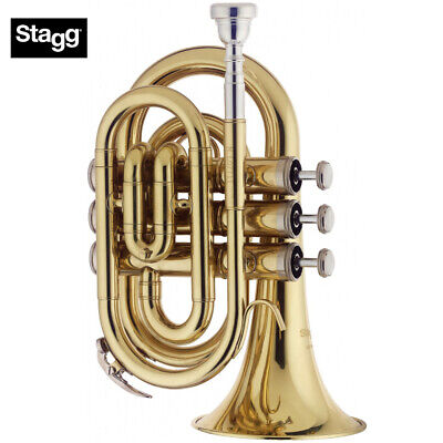 Musical Instruments & Gear Humor Stagg Eb Three Valve Tenor Horn Brass Body Clear Lacquer Finish *fast Postage*