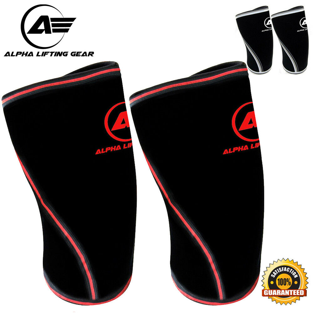 🔥 Knee Sleeves Pair Powerlifting Weightlifting Support Cr